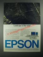 1987 Epson Computers and Printers Ad - Landscape of The Mind