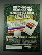 1987 Vantage Cigarettes Ad - The Senior PGA Tour