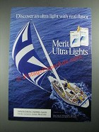 1987 Merit Ultra Lights Cigarettes Ad - Discover Real Flavor