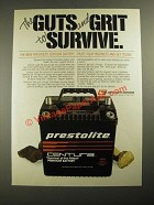 1987 Prestolite Centura Battery Ad - The Guts and Grit to Survive