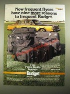 1987 Budget Rent a Car Ad - Frequent Flyers Have More Reasons