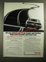 1987 Bosch Fuel Injection Components Ad - Go Faster and Farther