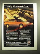 1987 Sterling 825S and 825SL Car Ad - The Dream is Born