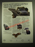 1987 Buick LeSabre Sedan Ad - If The World Were a Perfect Place