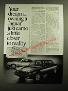 1987 Jaguar SJ6 and XJ-S Ad - A Little Closer to Reality