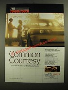 1987 Toyota Cars Ad - Common Courtesy
