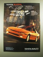 1988 Toyota Supra Ad - It Draws a Crowd, and Leaves it Behind