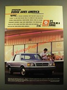 1987 Dodge Aries Ad