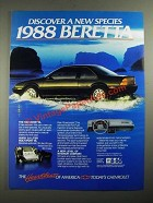 1988 Chevrolet Beretta Ad - A New Species