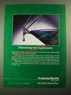 1987 Prudential-Bache Securities Ad - Discovering New Liquid Assets