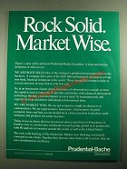 1987 Prudential-Bache Securities Ad - Rock Solid Market Wise