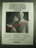 1987 Dean Witter Investments Ad - What If Your Name is Carson?