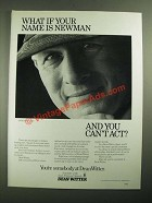 1987 Dean Witter Investments Ad - What If Your Name is Newman?