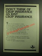 1987 Federal Crop Insurance Corp. Ad - Don't Think Of