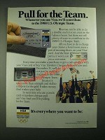 1987 VISA Credit Card Ad - Pull For The Team
