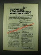 1987 Vanguard Group Ad - Give Every Investor Relative Predictability