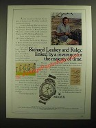 1987 Rolex Explorer II Oyster Perpetual Chronometer Ad - Richard Leakey
