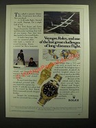 1987 Rolex Lady Datejust & GMT-Master Date Ad - Dick Rutan, Jeana Yeager