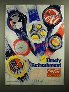 1987 Coca-Cola Watches Ad - Timely Refreshment
