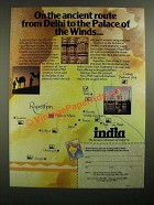 1987 India Tourist Office Ad - On the Ancient Route From Delhi