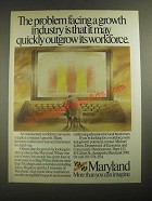 1987 Maryland Department of Economic and Community Development Ad - Outgrow