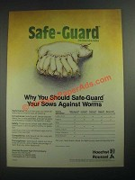 1987 Hoechst-Roussel Safe-Guard Dewormer Ad