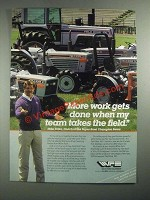 1987 White Field Boss Tractors Ad - Mike Ditka - More Work Gets Done