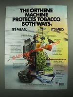 1987 Ortho Orthene tobacco insect spray Ad - Protects Both Ways