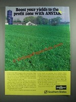 1987 Southern States Anstar Alfalfa Ad - Boost Your Yields