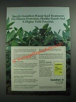 1987 Gustafson Peanut Seed Treatments Ad - For Disease Protection