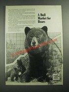 1987 National Shooting Sports Foundation Ad - Bull Market For Bears