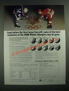 1987 Royal Canadian Mint Olympic Coins Ad - Before Tense Face-Off