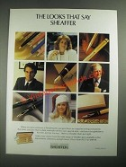 1987 Sheaffer Pens Ad - The Looks That Say Sheaffer