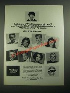 1987 USA Network Thanks for Giving TV Special Ad - Michael Landon, Bob Hope