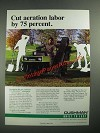 1987 Cushman Core Harvester Attachment on Turf Truckster Ad