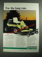 1987 Cushman Front Line Mowers Ad