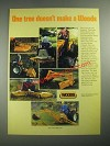 1987 Woods Ad - Mowers, Cutters, Rear Scraper Blades, Backhoes