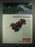 1987 Ransomes T-22DV Mower Ad - PGA National in Palm Beach Gardens, Florida