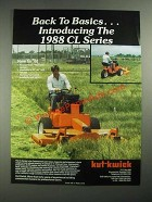 1987 Kut-Kwick CL Series Mowers Ad - Back to Basics