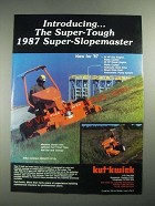 1987 Kut-Kwick Super-Slopemaster SSM 34-72 and SSM 35-72D Ad