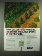1987 BASF Poast Herbicide Ad - Grasses Are Always Greener