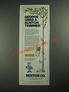 1987 Bunton Trimmer Ad - George Used a Bunton Trimmer