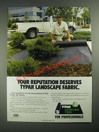 1987 Reemay Typar Landscape Fabric Ad - Your Reputation