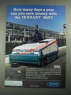 1987 Tennant 365 Sweeper Ad - How Many Days a Year Can You Save