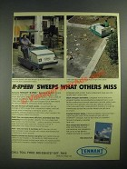 1987 Tennant II-Speed Sweeper Ad - Sweeps What Others Miss