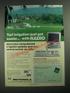 1987 Motorola Irrigation Systems Ad - Irrigation Got Easier With Radio