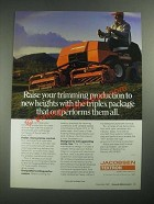 1987 Textron Jacobsen Tri-King 1471 Mower Ad - Trimming Production