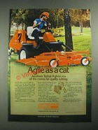 1987 Textron Jacobsen Turfcat II Mower Ad - Agile as A Cat
