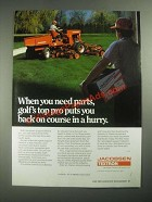 1987 Textron Jacobsen Mower parts Ad - Golf's Top Pro