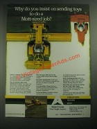 1987 Alamo Group Mott Interstater Flail Mowing System Ad - Sending Toys
